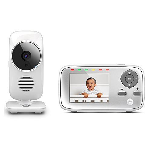 """Motorola MBP483 2.8"""" Video Baby Monitor with Digital Zoom, Two-Way Audio and Room Temperature Display"""