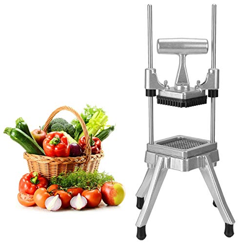 WICHEMI Vegetable Fruit Dicer Commercial Easy Chopper Dicer Cutter Kattex Chopper Stainless Steel for Onion Tomato Peppers Potatoes Mushrooms (3/8' Blade)
