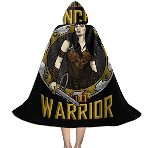 KUKHKU Xena - Capa con capucha para niños, unisex, diseño de princesa y guerrero