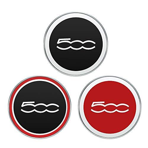 elegantstunning 5cc 60mm Auto Radmitte Kappen Nabe Reifen Felge Radkappe Abdeckung für FIAT 500 Auto Zubehör rot