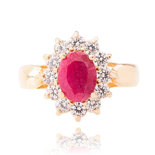 Ah! Jewellery Striking 1.45ct GENUINE PRECIOUS RUBY Ring. Gold Filled UK Guarantee: 3µ. Perfect Piece of Jewellery to Be Treasured.