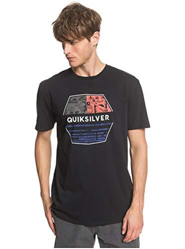 Quiksilver Drift Away - Camiseta para Hombre Screen tee, Hombre, Black, S