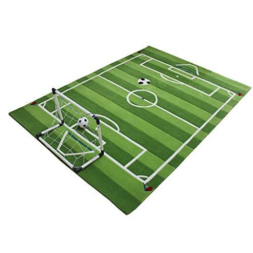 Best Review Of CarPet Children's Bedroom, Rug, Handmade 1.4cm Thick Creative Football Field Design