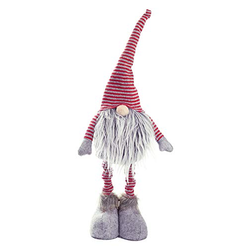 Tennessee589 Christmas Decoration Unique Beautiful Handmade Home Decor Holiday Presents Christmas Cute Gnome Faceless Doll Plush Toy Hanging Pendant Tree Window Decor - Grey -  Tennessee526
