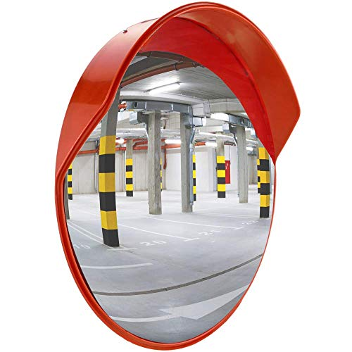 PrimeMatik - Espejo Convexo para señalización Seguridad vigilancia tráfico de 45 cm