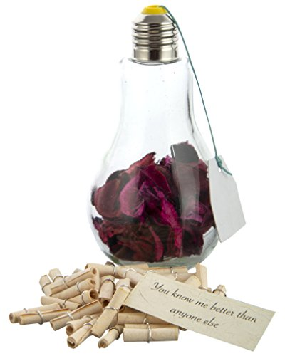 Khatte Meethe Desires Customised Message In A Bottle Message Bulb Jar - 52 Reasons I Love You/Best Sister Gift/Best Brother Gift
