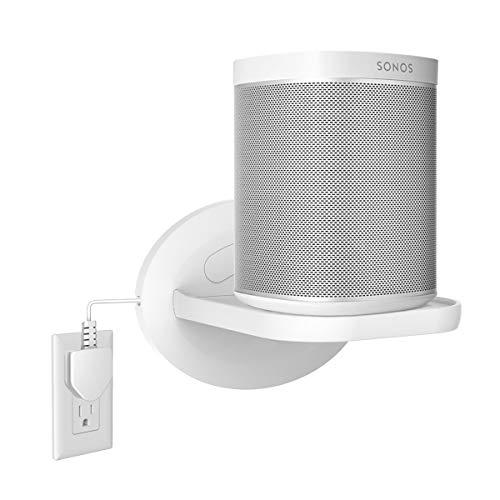 Wall Mount Shelf Hanger Holder Stand for Sonos Play:1 Sonos One Google Nest Mini,Home Mini,Smartphones,Security Cameras