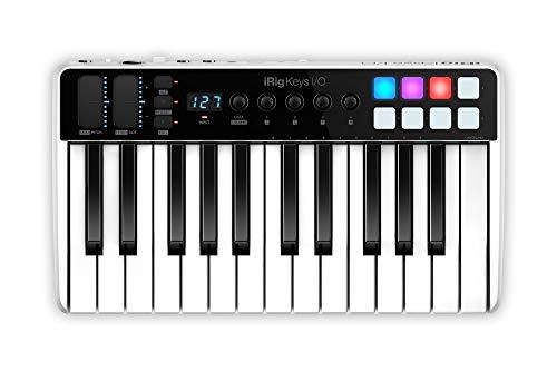 IK Multimedia iRig Keys I/O MIDI 25 - MIDI-Tastatur, tragbare Klaviertastatur, für Mac, iPhone und iPad, 25 Tasten, 8 Pads, Musikproduktionsstation, Software und Anwendungen