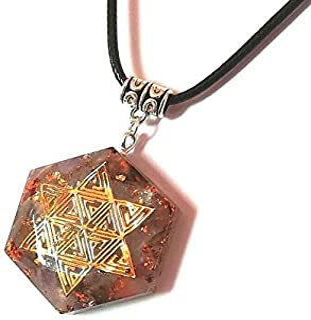 Orgonita colgante de orgón piedras naturales amatista collar de cuarzo amuleto de energía joyería unisex Estrella de David