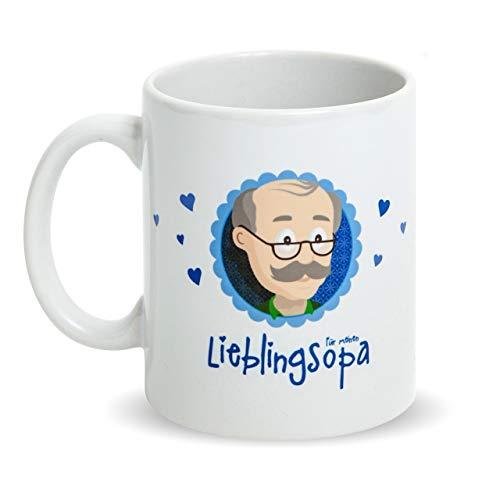 Tolles Geschenk für Opas! Ideales Opa Geschenk Tasse mit Spruch und Bild als Opa Geburtstagsgeschenk - beidseitig bedruckte Opa Tasse Lieblingsopa - Tasse Opa mit Aufdruck