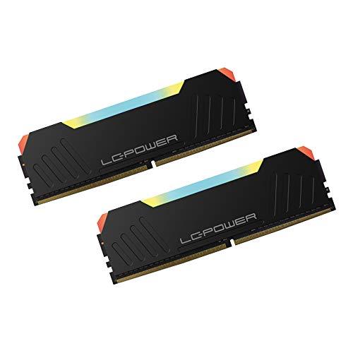 LC-POWER LC-RAM-DDR4-3600-RGB-16GB-KIT 16GB RAM(DDR4,UDIMM,3600MHz,XMP 2,0, 288 pin) High Performance Desktop Dual Channel Memory Arbeitsspeicher Gaming Speicher Kit, Schwarz (8GBx2)