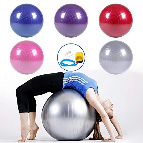 BG-SMILE Swiss Ball Ballon Fitness pour Pilates, Yoga, Gym, Grossesse, Sport Ou Chaise Ballon De...