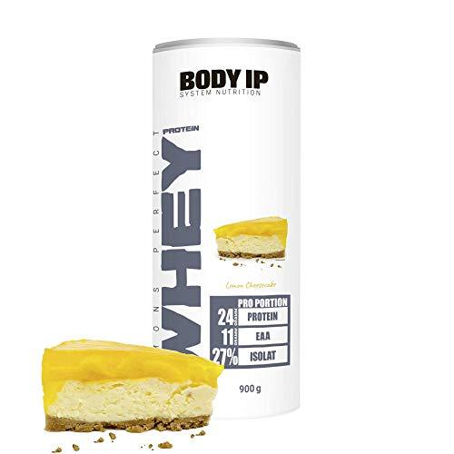 BODY IP Simons Perfect Whey Protein | Eiweißpulver für den Muskelaufbau | hoher BCAA Anteil | 30 Portionen (Lemon Cheesecake)