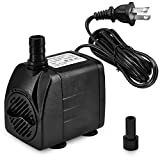 DOMICA 220 GPH Ultra Quiet Fountain Pump, Small Submersible Pump ( 15W 800L/H ) for Pond, Water Feature, Aquariums, Hydroponics, Indoor or Outdoor Fountain