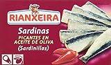 Rianxeira Sardinilla en Aceite de Oliva Picante - Paquete de 30 x 90 gr - Total: 2700 gr
