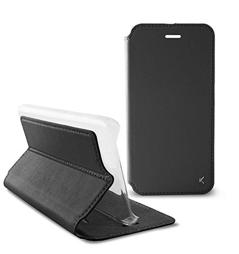 KSIX b0731fu81–Slim mit Standing Folio Schutzhülle für Huawei P9Plus, schwarz