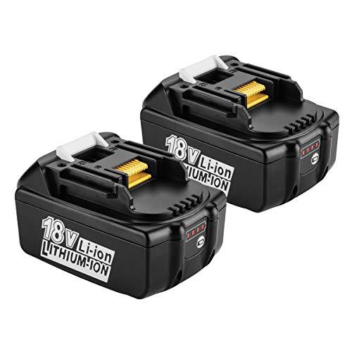 2 Stk Energup 18V 5000mAh Li-Ion Ersatz Akku für Makita 18V BL1850B BL1860 BL1850 BL1840 BL1830 BL1820 BL1020B BL1815 LXT400