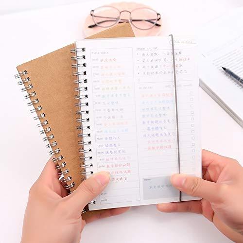 FNMYH Cuadernos Cuaderno Planificador Agenda Book Diary Kraft Mini Papel Bloc de Notas para la Oficina del hogar de la Escuela de Arte, etc. (Cubierta de Papel Kraft) (Color : Kraft Paper Cover)