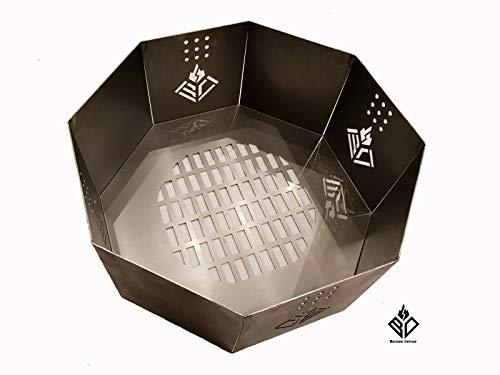 Becker Design Feuerkorb für Eigenbau Feuertonne - Alternative zur Waschmaschinentrommel