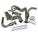 BEMOFRLAY Exhaust Manifolds Stainless Steel Long Tube Exhaust Headers Y Pipe Fit for 99-06 Chevy GMC Truck V8