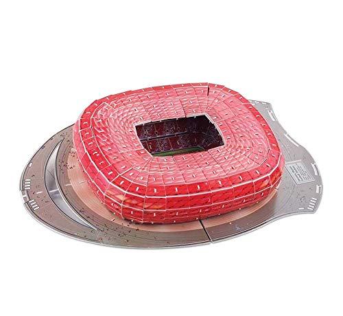 Maiaro Fußballstadion 3D-Puzzle-Spiel, München Allianz Arena Replica Fun Home Boden Spiel, pädagogisches Spielzeug für Kinder Erwachsene