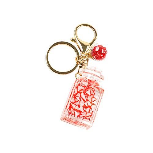 ZXCVB EIS am Stiel Flash Schlüsselbund Treibsand Schlüsselbund Liquid Floating Fruit Key Ring Rucksack Anhänger weibliches Geschenk