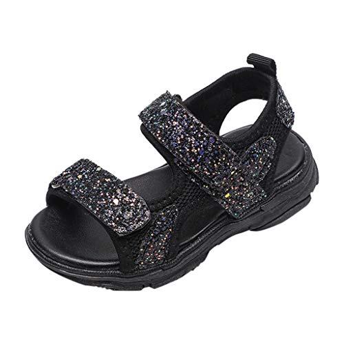 Sandales Bout Ouvert Mixte Enfant,Alaso Été Sandales de Marche Extérieur Plates Souple Semelle Chaussures Filles Garçons Plage Tongs