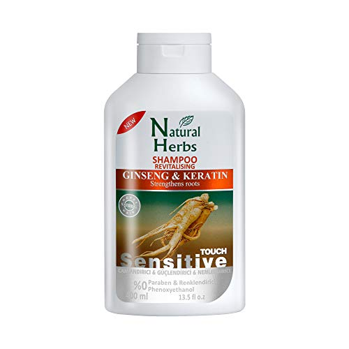Seed Natural Herbs Ginseng & Keratin Shampoo 400 ml- Haarwachstum Shampoo - Anti Haarausfall Frauen und Männer - Shampoo ohne Parabene - Wachstumsfördernd - Keratin Haarkur