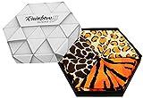 Rainbow Socks - Damen Herren Lustige Wilde Tiermuster Socken Box - 3 Paar - Panther Giraffe Tiger - Größen 41-46