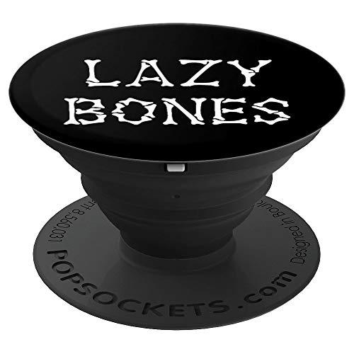 Lazy Bones Funny Procrastination Pyjama mit schläfrigem Kopf - PopSockets Ausziehbarer Sockel und Griff für Smartphones und Tablets