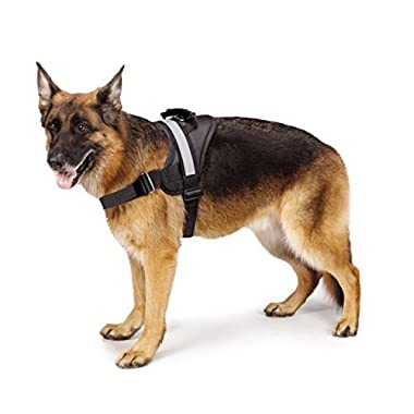 Big Dog Harness - Soft Reflective No Pull Black Size L 26-36 inch
