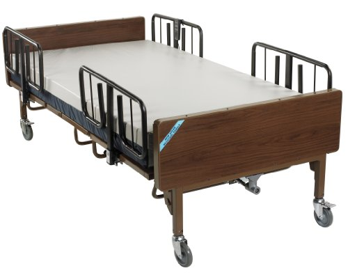 15300BV-PKG - Full Electric Bariatric Hospital Bed with Mattress and 1 Set of T Rails