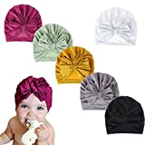 DANMY Baby Girl Hat with Bow Hat Toddlers Soft Turban Knotting Hats Cap