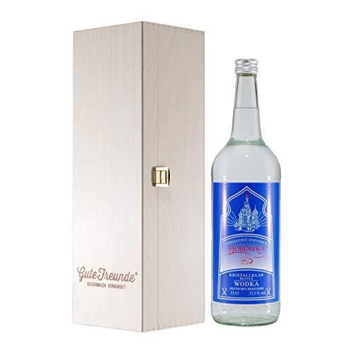 Fjorowka Wodka mit Geschenk-Holzkiste