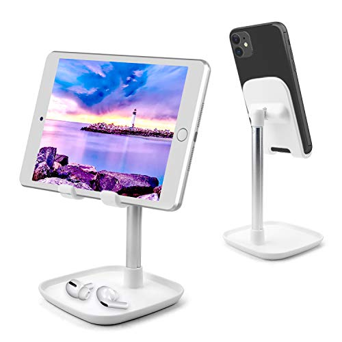 AUCHIKU Tablet Halter, Winkelhöhe Verstellbar Handyhalter Tischständer, Tablet Halterung Handy Halter Desktop Ständer kompatibel mit Pad Air/Pad Mini/Huawei MediaPad P30/Galaxy Tab/Handy usw