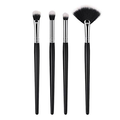 MERIGLARE 4 PCS Kabuki Pinceaux De Maquillage Set Foundation Foundation Fard à Paupières Fan Brush Cosmétiques Kit
