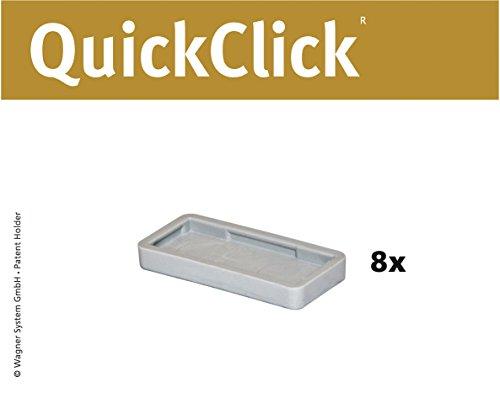 WAGNER QuickClick® Stuhlgleiter I 8er-Set Ersatzgleiter I - HYPER - 32 x 15 mm - 15791700