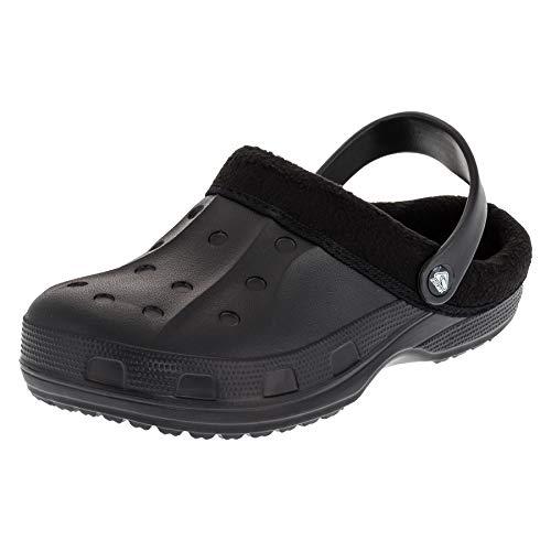 2Surf Gefütterte Herren Clogs Winter und Sommer Schuhe mit herausnehmbarem Futter M477sw Schwarz 45 EU