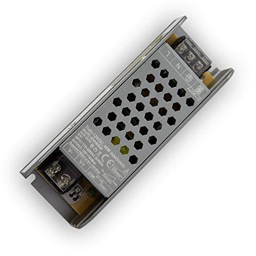12V DC LED Trafo für Stripes - MR16 GU5.3 LED Halogen, ohne Mindestlast, kein Rauschen, kein Flimmern, Trafo Treiber Netzteil Transformator (dimmbar - 60 Watt - IP20)