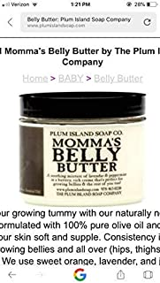 Plum Island Soap Company Momma's Belly Butter Lavender and Peppermint Pregnancy Balm