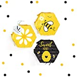 NICROLANDEE Bee Party Decorations - What Will It Bee Gender Reveal Sweet Mini Pinatas Confetti for Baby Shower Bee Day Bee Themed Baby Birthday Party Kids Themed Parties (3PCS) (Toy)