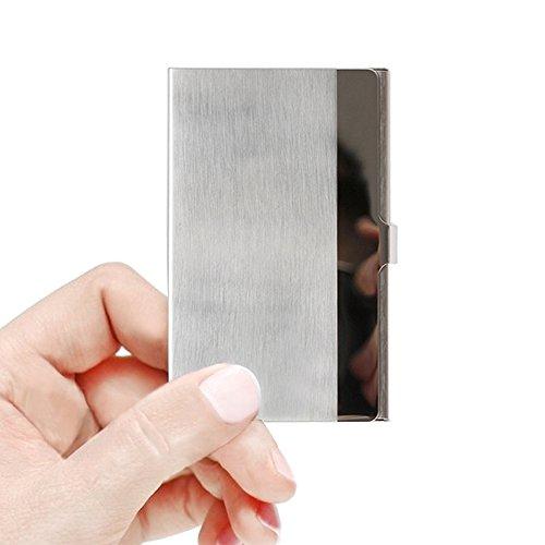 SunplusTrade Professional Metal Business Card Holder Pocket Business Card Case Slim Business Card Carrier Business Card Holders Wallet for Men & Women