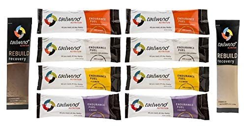 Tailwind Nutrition Endurance Fuel 10 Stick Caffeine-Free Discovery Set with Complete Protein Recovery Rebuild for Running, Cycling, Marathon, Triathlon, Ditch The Energy Gels
