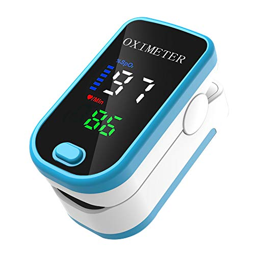 Tickas Oxímetro de dedo, medición de frecuencia de pulso SPO2 Apagado automático en 5S