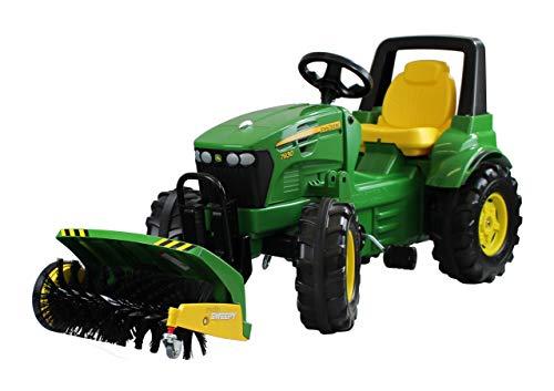 Rolly Toys rollyFarmtrac Trettraktor John Deere 7930 mit Rolly Sweepy (Traktor + Kehrmaschine, Sitz verstellbar, Flüsterlaufreifen, ab 3 Jahre) 70 028 8
