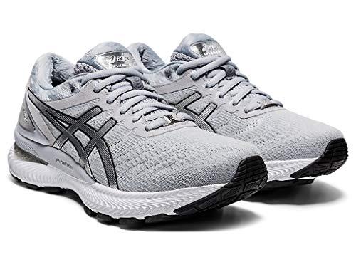 ASICS Women's Gel-Nimbus 22 Platinum Running Shoes, 11.5M, Piedmont Grey/Pure Silver