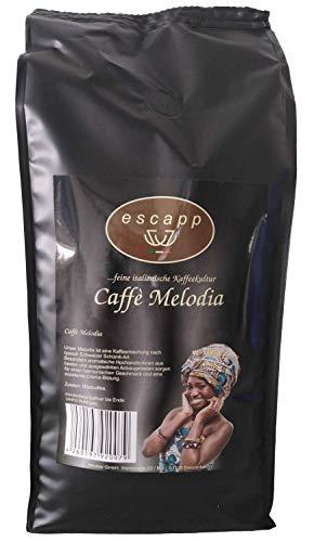 Kaffee escapp Caffè Melodia, 80% Arabica / 20% Robusta, Mischung nach Schümli-Art, 1000 Gramm, gemahlene Bohnen