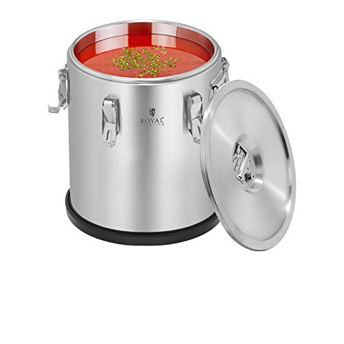 Thermobehälter Thermobox Warmhaltebehälter (20 Liter, Edelstahl, stapelbar) - Royal Catering