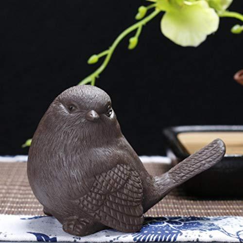 Escultura Decoración Estatua Estatuas De Decoración De Jardín Para El Hogar De Aves, Arena Púrpura, Adornos Hechos A Mano, Esculturas, Puntos Escénicos, Venta DeDecoración De Pájaros De La Suerte