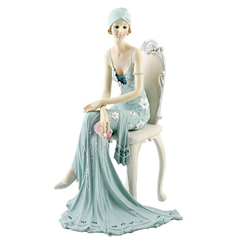 Widdop 58379 figurine, Lady on the Chair and Broadway Bells, 25 cm x 14 cm x 14 cm